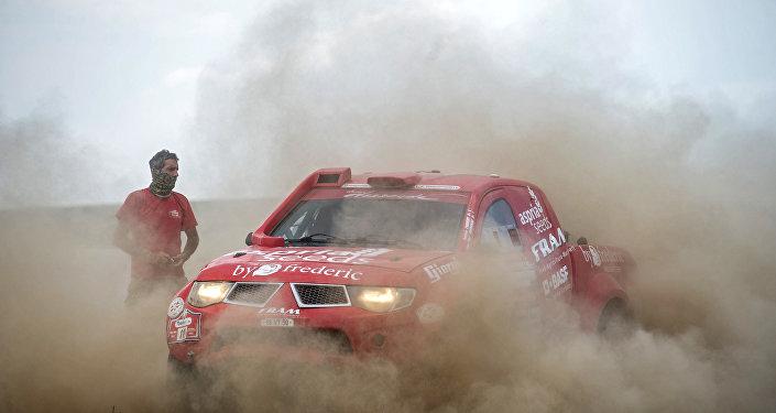 Vehículo durante un rally