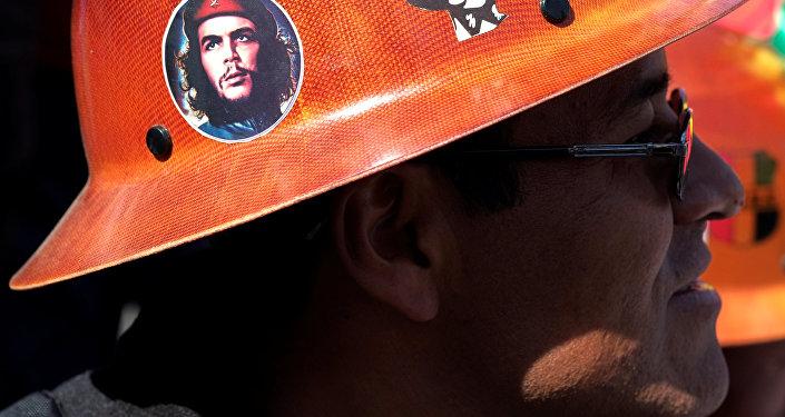 Protesta de la Central Obrera Boliviana (archivo)