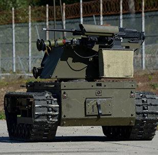 El sistema robótico ruso Plataforma-M