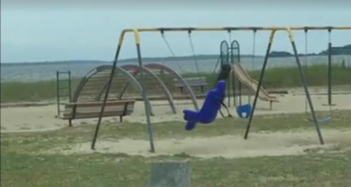 ¿Un fantasma en el parque?