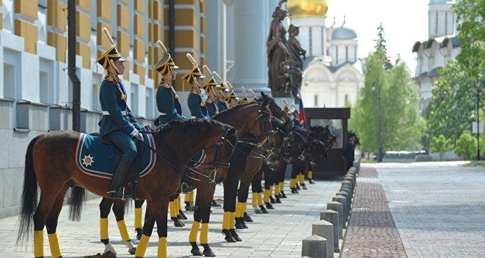 Jinetes del Regimiento Presidencial