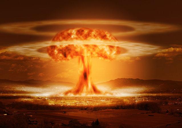 La explosión de una bomba nuclear