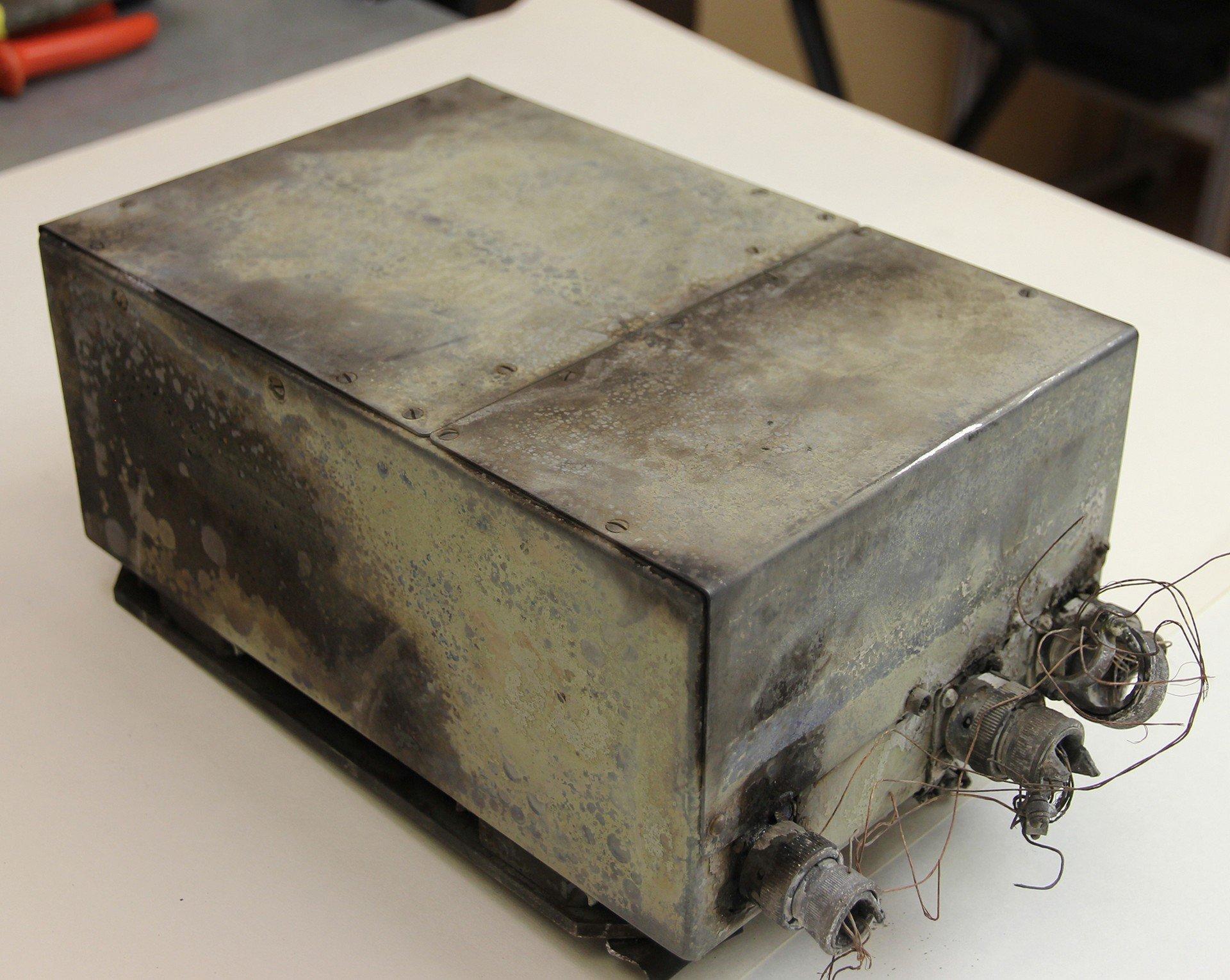 Una de las cajas negras del avión Il-76 siniestrado en Rusia