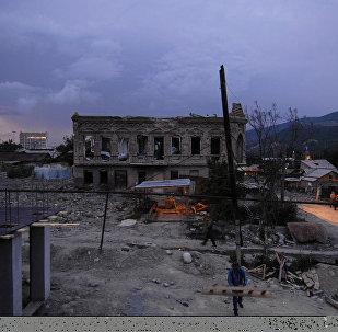 Tsjinvali un año después del conflicto militar con Georgia