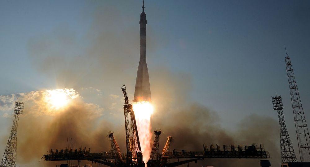 Lanzamiento del cohete-portador Soyuz
