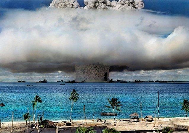 Una prueba nuclear de EEUU (archivo)
