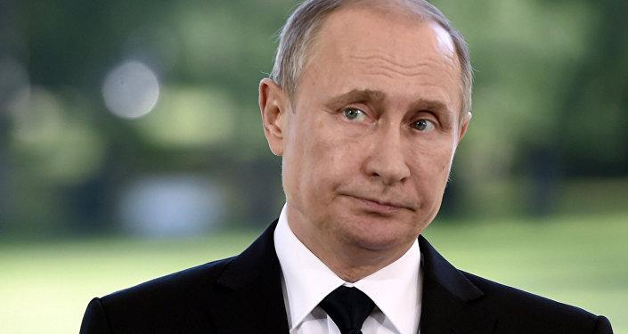 Vladímir Putin durante una rueda de prensa