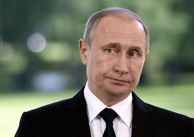 Vladimir Putin durante conferencia de prensa