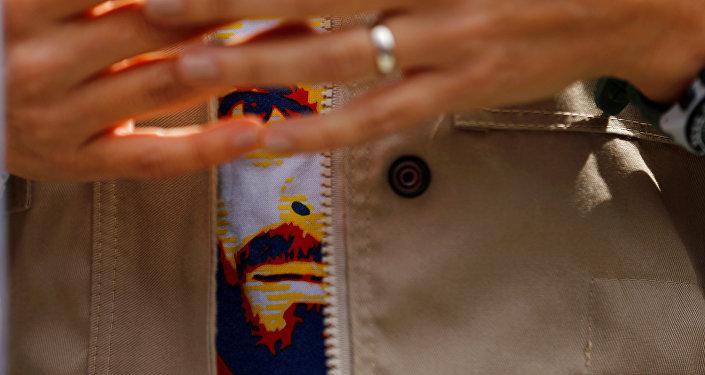 La camisa con el retrato del opositor venezolano Leopoldo López