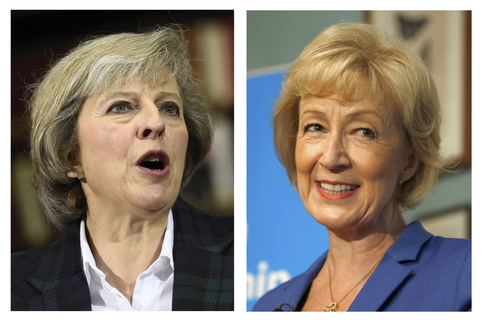 La ministra Theresa May y la secretaria de Estado Andrea Leadsom