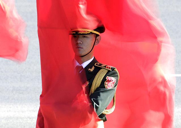 Un militar chino