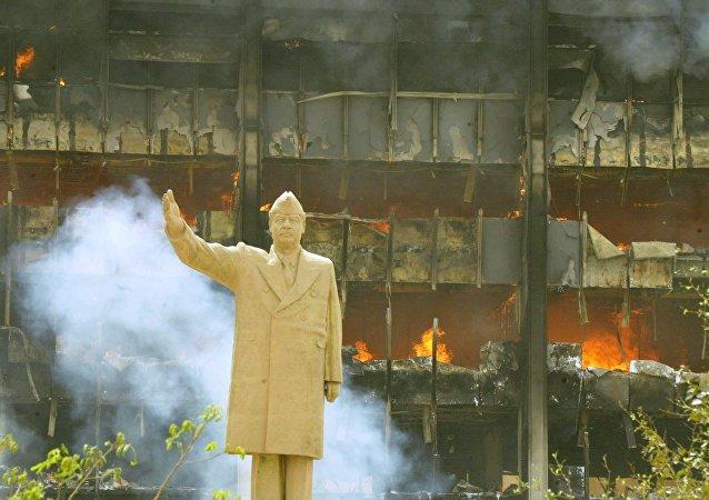 Bagdad, Iraq, abril de 2003 (archivo)