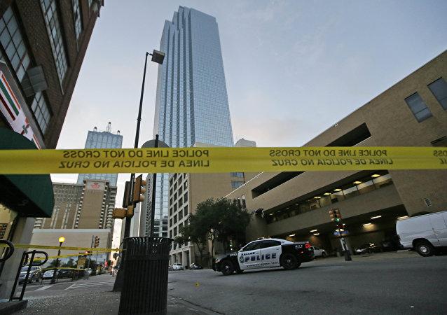 Lugar del tiroteo en Dallas, EEUU