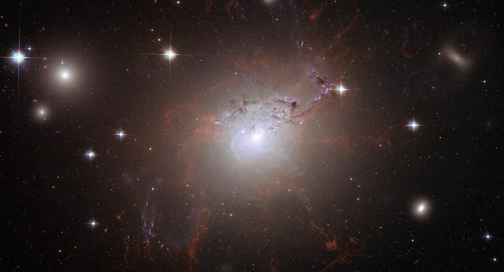 La galaxia NGC 1275, en la constelación de Perseo