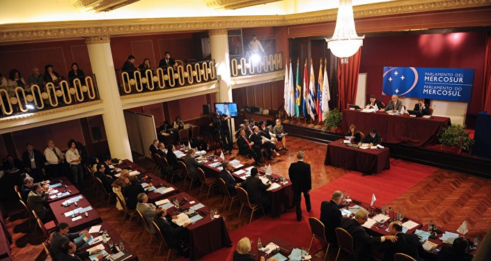 Una sesión plenaria del Parlasur (archivo)