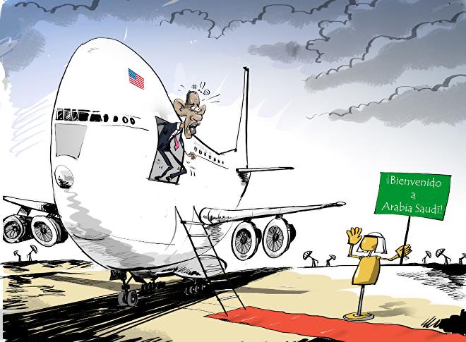 El Rey saudí privó a Obama de una bienvenida