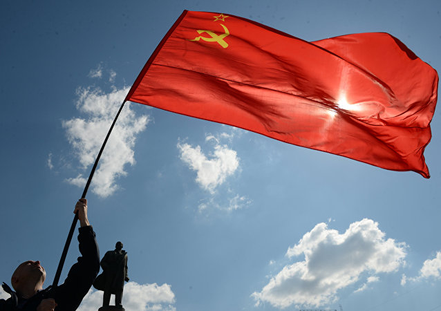 La bandera de la Unión Soviética (archivo)