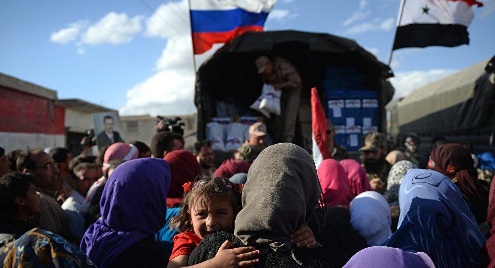 Entrega de ayuda humanitaria rusa en Siria (archivo)