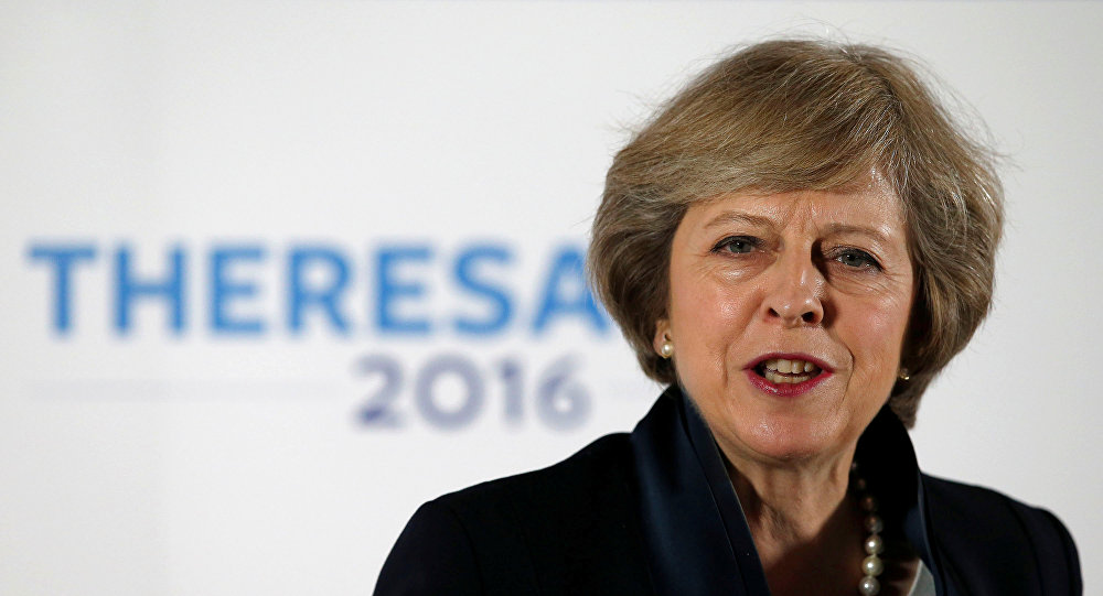 Theresa May, ministra británica del Interior