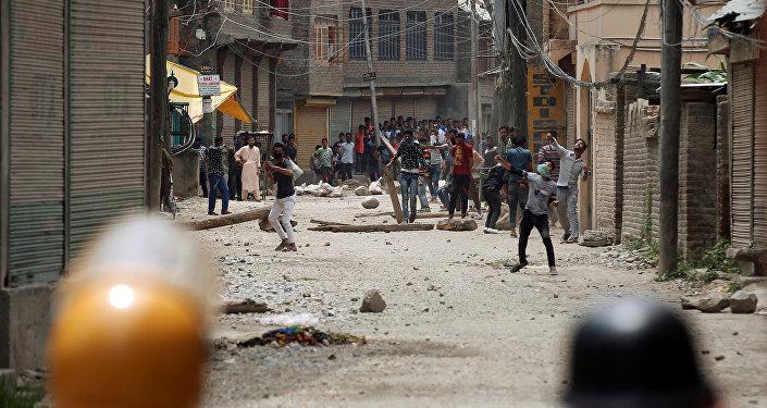 Protestas en el estado Jammu y Cachemira, India, después de la muerte del líder del grupo terrorista Hizb ul Mujahideen, Burhan Muzaffar Wani