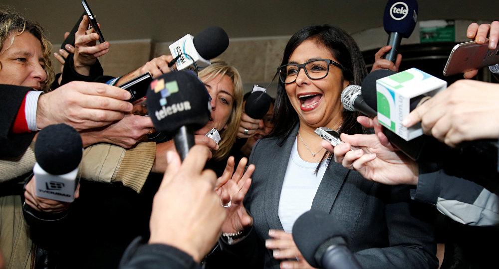 Delcy Rodríguez, la canciller de Venezuela
