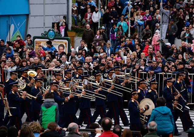 Celebración de independencia de Argentina