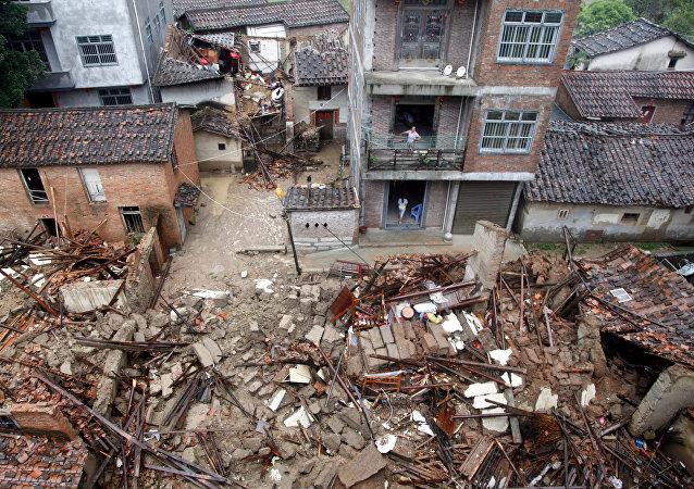 Consecuencias el tifón Nepartak en la provincia china de Fujian