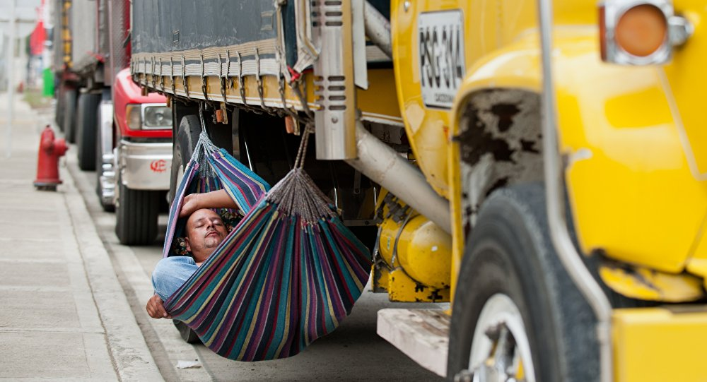 Paro camionero, Colombia