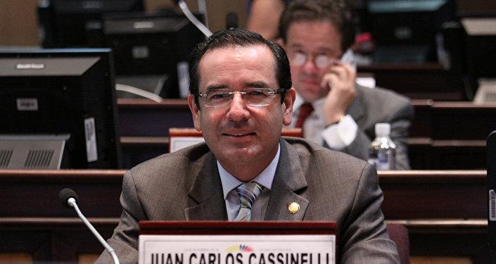 Juan Carlos Cassinelli, ministro de Comercio Exterior de Ecuador