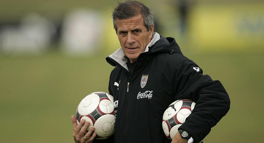 Óscar Washington Tabárez, el entrenador de la selección uruguaya