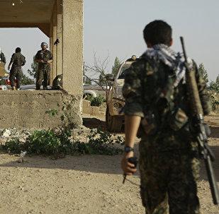 Milicianos kurdos en el norte de Siria