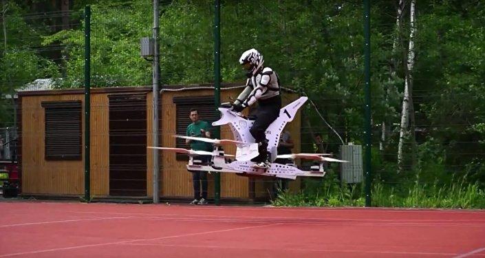La motocicleta voladora Scorpion I