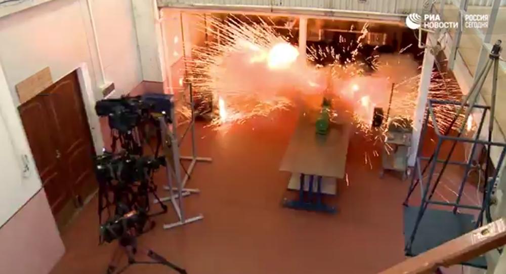 Las pruebas del cañón de riel en Rusia