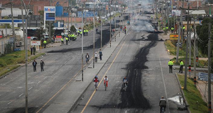 Paro camionero en Colombia