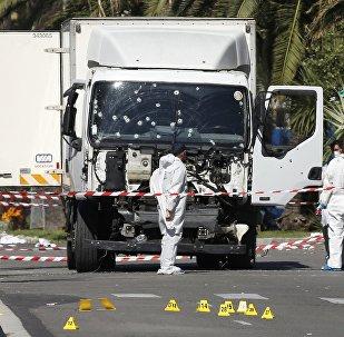 El camión del atacante en Niza