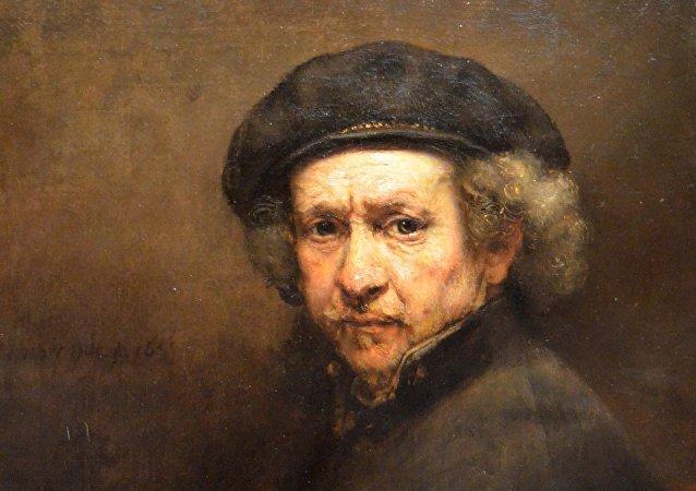 Rembrandt, autorretrato, óleo de 1659