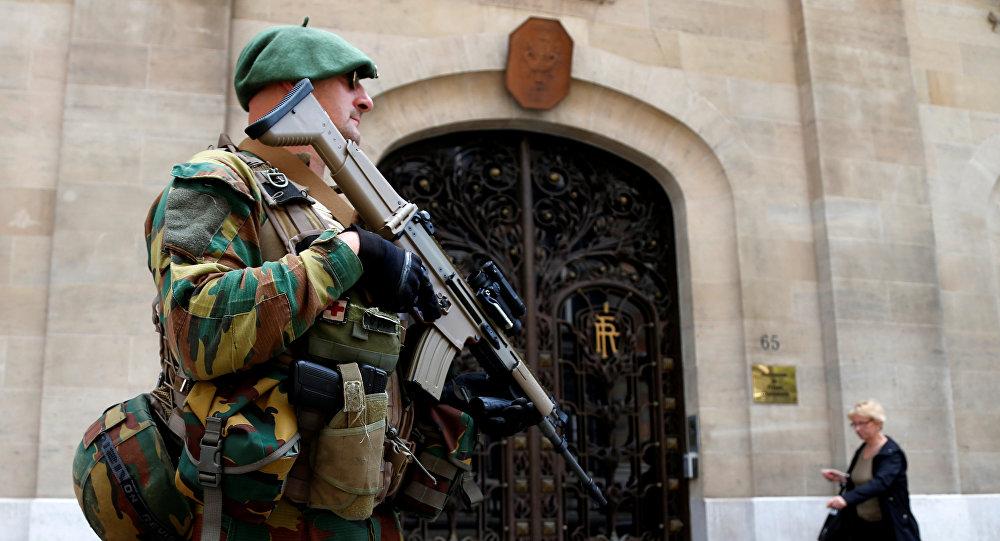 Un soldado del Ejército de Bélgica