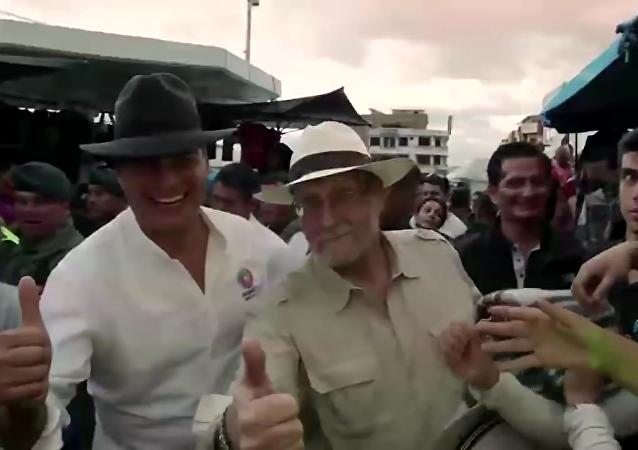 Rafael Correa y Peter Greenberg