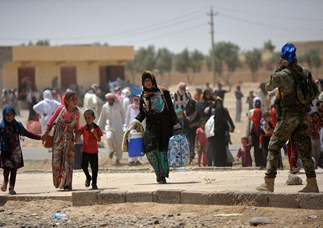 Los civiles cerca de Moscul, Irak (archivo)