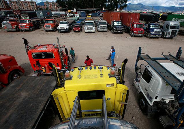 El paro camionero en Colombia
