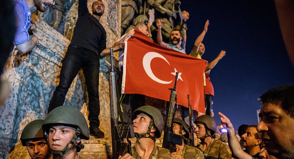 La plaza de Taksim durante el golpe de Estado (archivo)