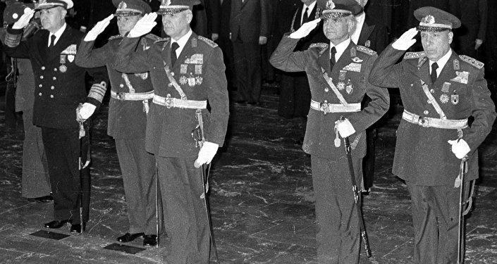 Los líderes del golpe militar del 12 de septiembre