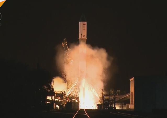 Así fue el lanzamiento del cohete Soyuz-U