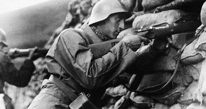 Soldado español leal al gobierno republicano, Bilbao 1937