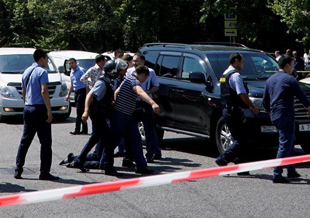 Los policías kazajos (archivo)
