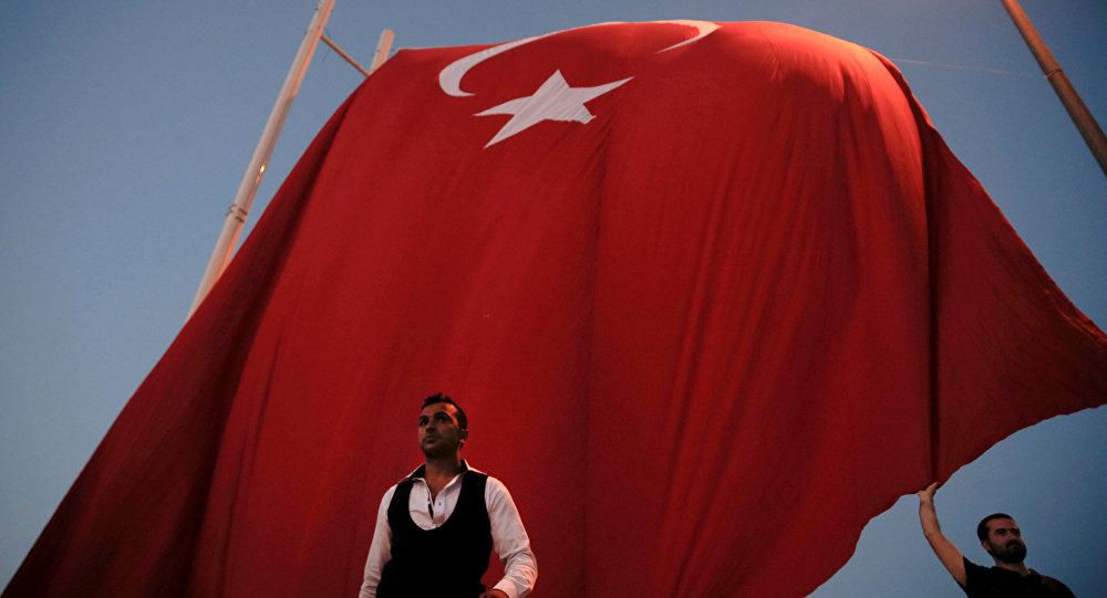 La bandera nacional de Turquía