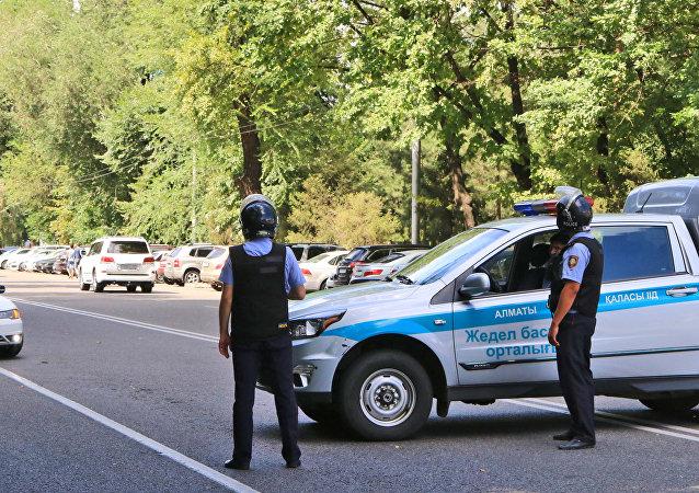 El lugar donde se produjo el tiroteo en Almaty