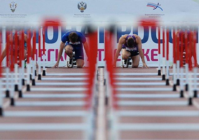Atletas rusos (archivo)