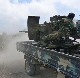 Un tanque del Ejército sirio