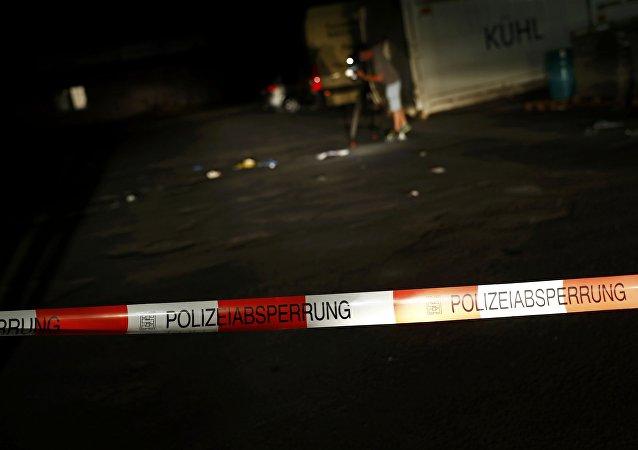 El lugar donde fue eliminado el hombre que atacó con un hacha a los pasajeros en el tren en Alemania